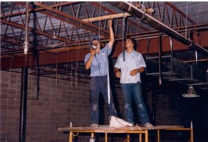 Kirk and Scott Installing Ductwork – 1980's