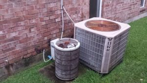 Lafayette Condenser Units Before